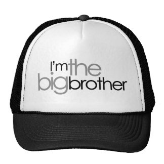 Simple Text Black and Gray Big Brother Cap