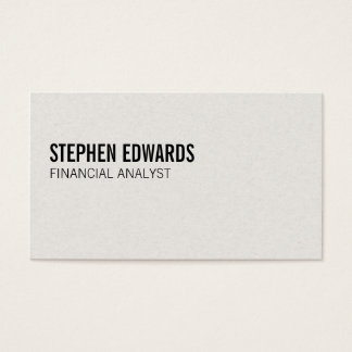 Simple | Text Business Card