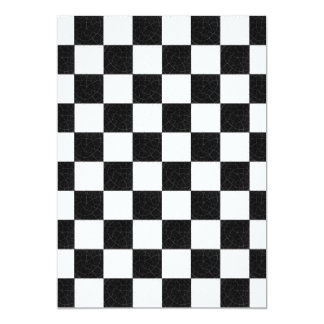 Simple textured checkerboard 13 cm x 18 cm invitation card