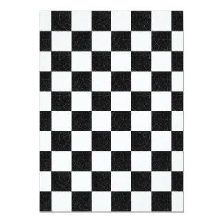 Simple textured checkerboard 13 cm x 18 cm invitation card
