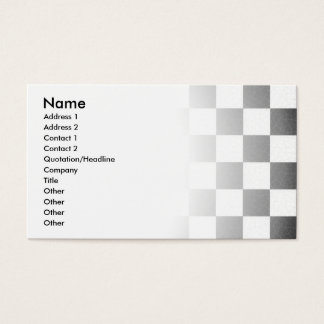 Simple textured checkerboard business card