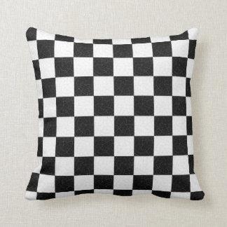 Simple textured checkerboard cushion