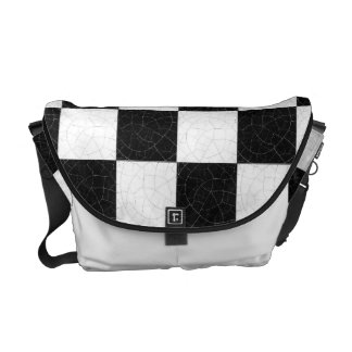 Simple textured checkerboard courier bags