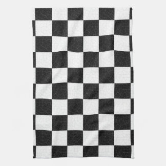 Simple textured checkerboard tea towel