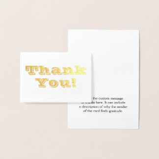 """Simple """"Thank You!"""" Card"""