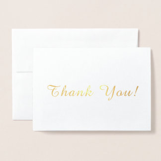 Simple Thank You Foil Card