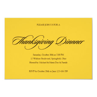 Simple Thanksgiving Dinner Invitation