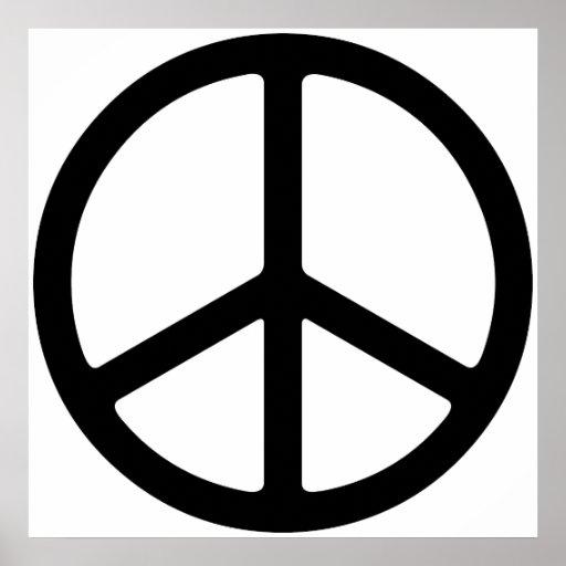 Simple Thin Peace Symbol Art Print