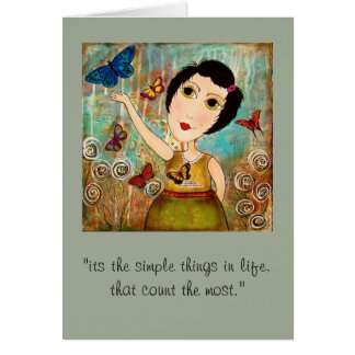 """Simple Things"" Note Card"