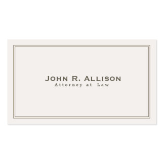 Simple Traditional Attorney Ivory Professional Pack Of Standard Business Cards