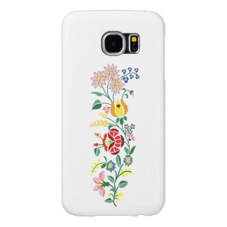 Simple Traditional Hungarian Embroidery design Samsung Galaxy S6 Cases