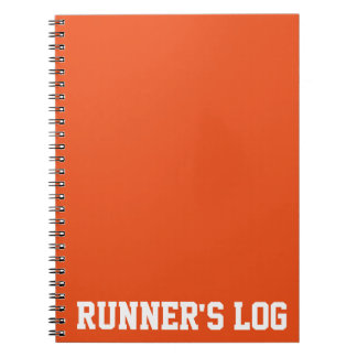 Simple Training Runner's Log Basic Colors Spiral Notebook