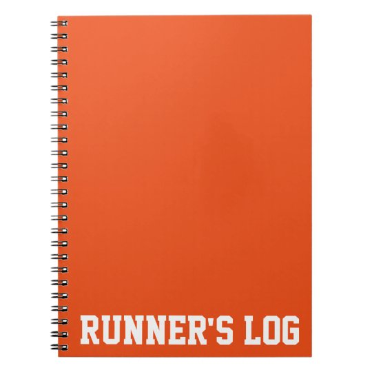 Simple Training Runner's Log Basic Colours Spiral Notebook