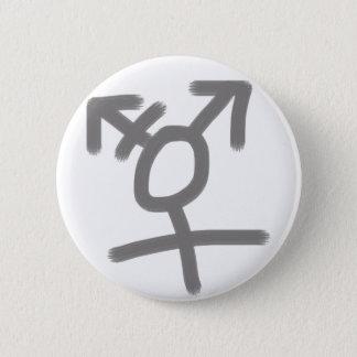 Simple trans symbol 6 cm round badge