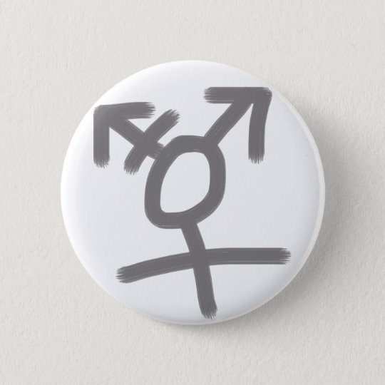 Simple trans symbol 6 cm round badge