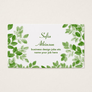 simple tree leaves beautiful business card design
