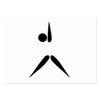Simple Tumbler Gymnast Gymnastics Symbol Business Card Templates