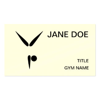 Simple Tumbler Gymnast Gymnastics Symbol Double-Sided Standard Business Cards (Pack Of 100)