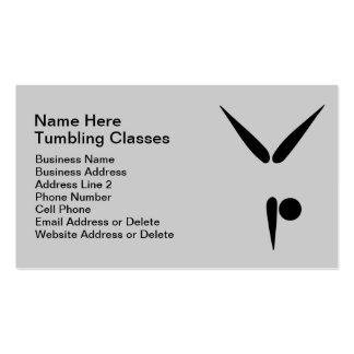 Simple Tumbler Gymnast Gymnastics Symbol Business Card Template