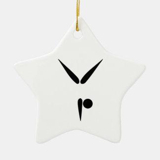Simple Tumbler Gymnast Gymnastics Symbol Ceramic Star Decoration
