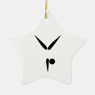 Simple Tumbler Gymnast Gymnastics Symbol Christmas Ornament