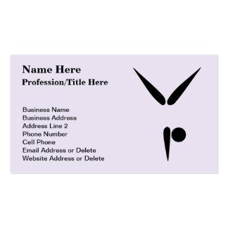 Simple Tumbler Gymnast Gymnastics Symbol Pack Of Standard Business Cards