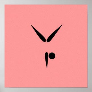 Simple Tumbler Gymnast Gymnastics Symbol Posters