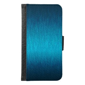 Simple Turquoise-Blue Brushed Aluminum Look
