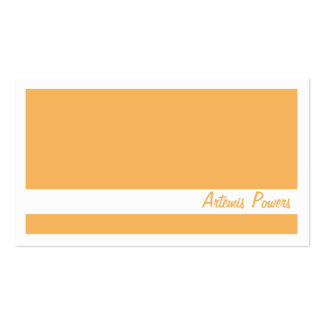Simple Two color business card orange and white
