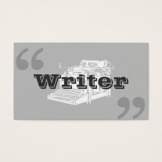 Simple Typewriter Quote Marks Writer Business Card