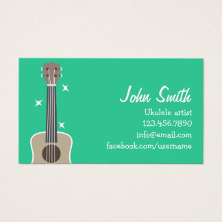 Simple Ukulele Artist Music Profile Card
