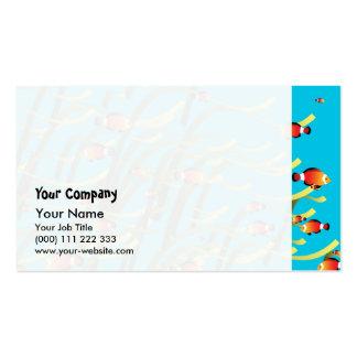 Simple underwater scene pack of standard business cards