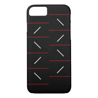 Simple & Unique Line Pattern In Red, Black & White iPhone 8/7 Case