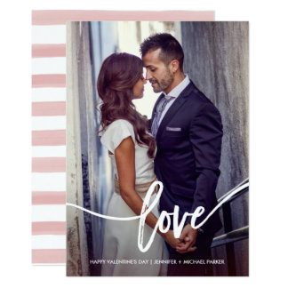 Simple Valentine's Love with Photo Card