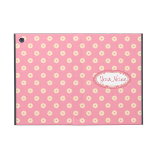 Simple Vector Daisy Flowers in Yellow on Pink iPad Mini Cover