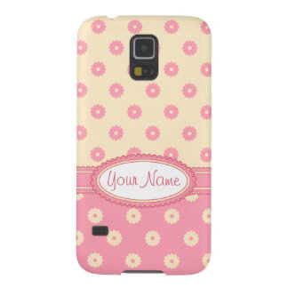 Simple Vector Daisy Flowers in Yellow & Pink Cases For Galaxy S5