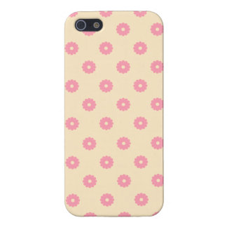 Simple Vector Daisy Flowers in Yellow & Pink Cover For iPhone 5/5S