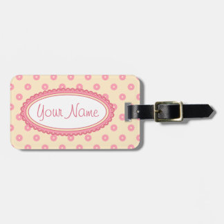 Simple Vector Daisy Flowers in Yellow & Pink Luggage Tag