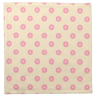 Simple Vector Daisy Flowers in Yellow & Pink Napkin