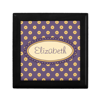 Simple Vector Daisy Flowers in Yellow & Purple Gift Box