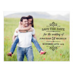 Simple Vintage | Photo Save the Date Post Cards