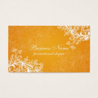 Simple Vintage Scroll Orange Business Card