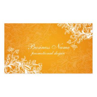 Simple Vintage Scroll Orange Pack Of Standard Business Cards