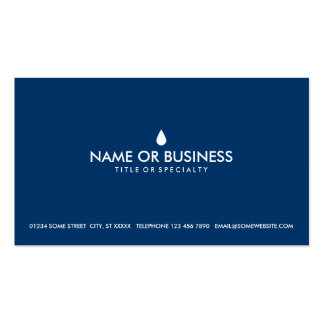simple water drop pack of standard business cards