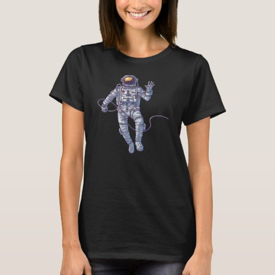 Simple Waving Hello Astronaut in Space | Shirt