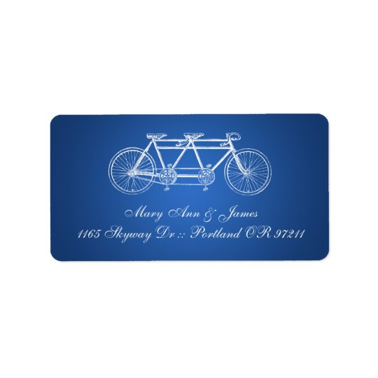 Simple Wedding Address Tandem Bike Blue Label