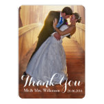 Simple Wedding Photo Thank You 13 Cm X 18 Cm Invitation Card