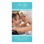 Simple Wedding Thank You Photocard (aqua)