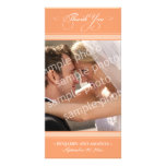 Simple Wedding Thank You Photocard (tangerine) Personalized Photo Card