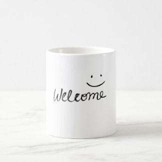 Simple welcome design for mug